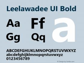 Leelawadee UI Bold Version 1.05图片样张