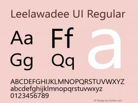Leelawadee UI Regular Version 1.05图片样张