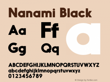 Nanami Black Version 1.000 Font Sample
