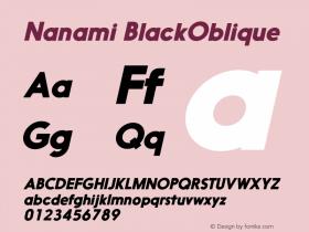 Nanami BlackOblique Version 1.000图片样张