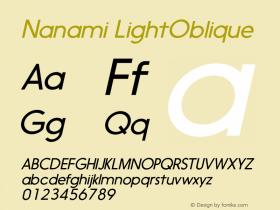 Nanami LightOblique Version 1.000图片样张