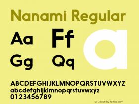 Nanami Regular Version 1.000图片样张