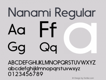 Nanami Regular Version 1.003;com.myfonts.easy.thinkdust.nanami.light.wfkit2.version.458C Font Sample