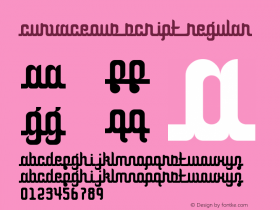 Curvaceous Script Regular Version 1.0图片样张
