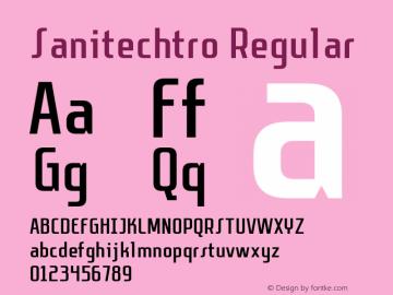 Sanitechtro Regular Version 1.0 - 6/18/2013图片样张
