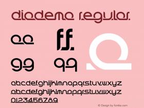 Diadema Regular Version 1.2 June 18, 2013, third release图片样张