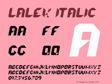 lalek Italic Version 1.000 2013 initial release图片样张