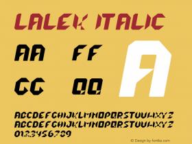 lalek Italic Version Version 1.000 2013 i图片样张