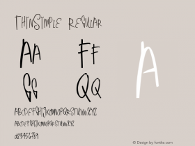 ThinSimple Regular Version 1.00 June 17, 2013, initial release图片样张
