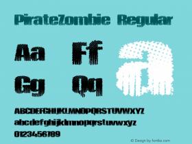 PirateZombie Regular Version 1.00 June 17, 2013, initial release图片样张