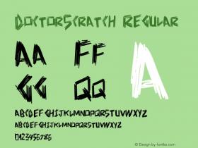 DoctorScratch Regular Version 1.00 June 17, 2013, initial release图片样张