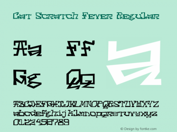 Cat Scratch Fever Regular Version 1.001;PS 001.001;hotconv 1.0.70;makeotf.lib2.5.58329图片样张