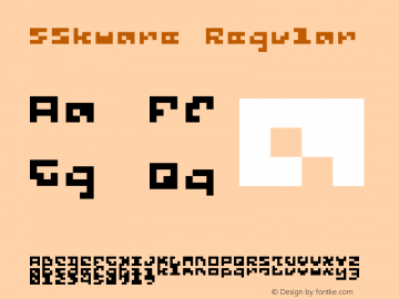 5Skware Regular Version 1.0图片样张