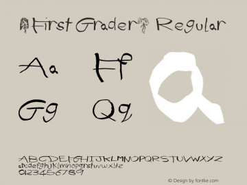(First Grader) Regular Version 1.00 June 19, 2013, initial release图片样张