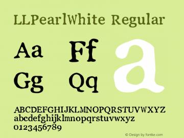 LLPearlWhite Regular Fontographer 4.7 19.06.2013 FG4M0000002545图片样张