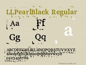 LLPearlBlack Regular Fontographer 4.7 19.06.2013 FG4M0000002545图片样张