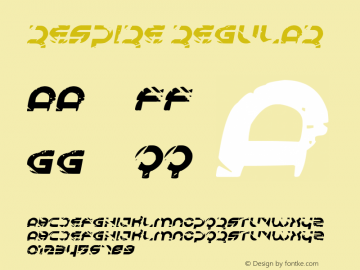 Respire Regular Version 1.00 June 19, 2013, initial release图片样张