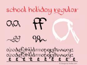School Holiday Regular Version 1.00 June 19, 2013, initial release图片样张