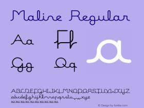 Maline Regular Version 2.000图片样张