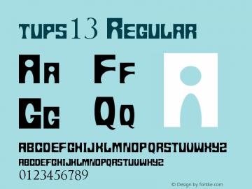 tups13 Regular Version 1.00 June 19, 2013, initial release图片样张