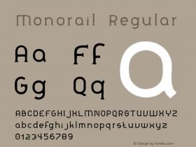 Monorail Regular Version 001.000图片样张