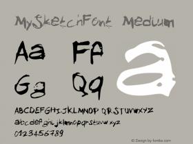 MySketchFont Medium Version 001.000图片样张