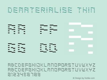 Dematerialise Thin Version 1.000;PS 001.001;hotconv 1.0.56图片样张