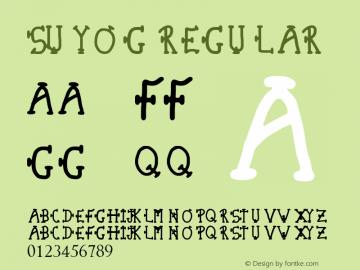 Suyog Regular Version 1.00 June 20, 2013, initial release图片样张