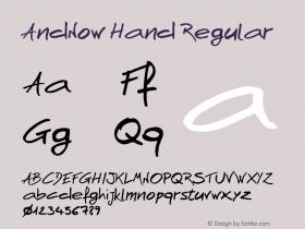 AndNow Hand Regular Version 1.000图片样张