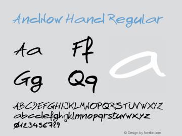AndNow Hand Regular 1.000图片样张
