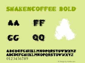 shaken_coffee Bold Version 1.00 June 21, 2013, initial release图片样张