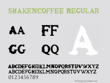 shaken_coffee Regular Version 1.00 June 21, 2013, initial release图片样张