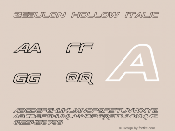 Zebulon Hollow Italic Version 1.00 - June 21, 2013图片样张