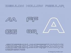 Zebulon Hollow Regular Version 1.10 July 11, 2014图片样张