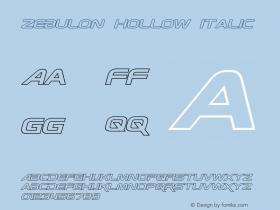 Zebulon Hollow Italic Version 1.10 July 11, 2014图片样张