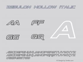 Zebulon Hollow Italic Version 1.00 - June 21, 2013图片样张