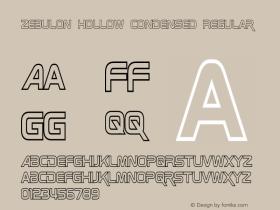 Zebulon Hollow Condensed Regular Version 1.00 - June 21, 2013图片样张