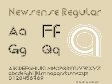 Newsense Regular Version 1.00 2013图片样张