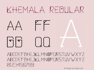 Khemala Regular Version 1.000图片样张