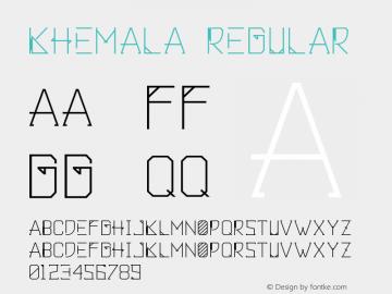 Khemala Regular 1.000图片样张