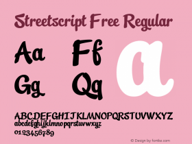 Streetscript Free Regular Version 1.00 May 7, 2012, initial release图片样张