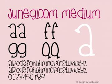 JuneGloom Medium Version 001.000图片样张