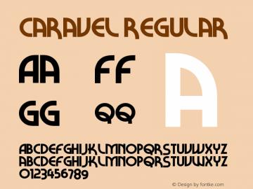 Caravel Regular Version 1.00 June 4, 2013, initial release图片样张
