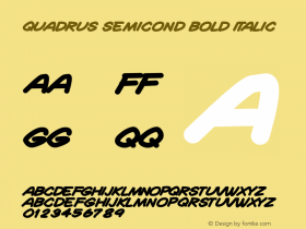 Quadrus Semicond Bold Italic Version 1.00 June 22, 2013, initial release图片样张
