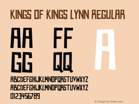 Kings of Kings Lynn Regular Version 1.00 June 23, 2013, initial release图片样张