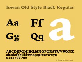 Iowan Old Style Black Regular 8.0d6e1图片样张