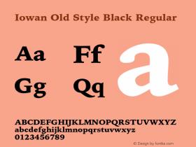 Iowan Old Style Black Regular 9.0d2e1图片样张