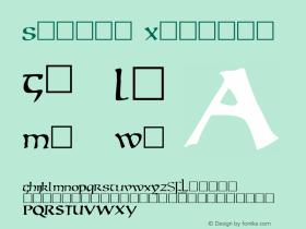 Mantua Regular Unknown Font Sample