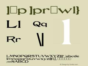 Rue Regular Unknown Font Sample