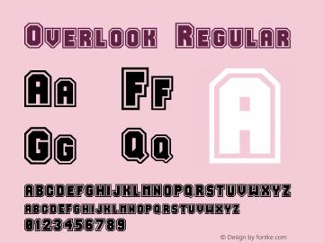 Overlook Regular Unknown Font Sample